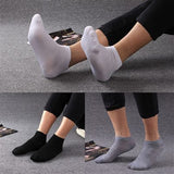 10pair=20Pcs/lot Men Sock Thin Socks Short Deodorize Socks Cotton Men Casual Wear black gray white  Couple Short Sock - thefashionique