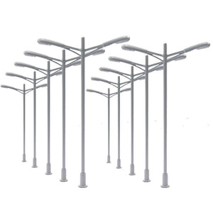 10pcs Model Railway Lamppost Lamps Street Lights HO Scale 7.5cm 12V New L053 model outdoor light model building kit - thefashionique