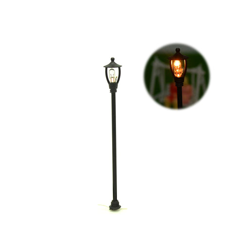 10pcs Single Head Scale Lampposts Train N Scale Lights Model Scale Street Lamps Model Building Lights - thefashionique