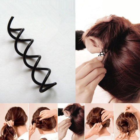 10pcs Spiral Spin Screw Hair Pin Clips Lady Twist Barrette Hairpins For Women Hair Accessories Hair Clip Bobby Pins