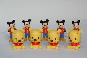 10pcs/lot  bear and mouse 3-3.5cm, cartoon action figure dolls, kids puppets, hobby collectables - thefashionique