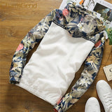 11.11.2017 floral white women jacket winter warm bomber jacket women clothing coat sweater windbreaker 66# #42 - thefashionique