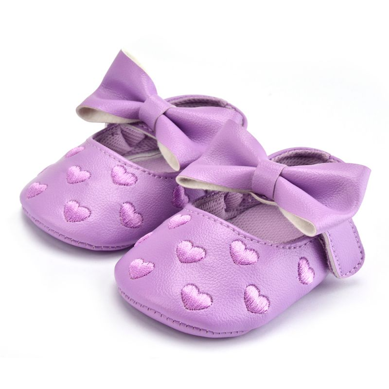 12 Colors Bebe PU Leather Baby Boy Girl Baby Moccasins Shoes Big Bow Embroidery Soft Soled Non-slip Footwear Crib Shoes - thefashionique