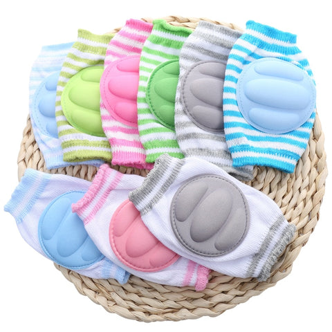 12 Pairs Baby Stripe Knee Pads Safety Leg Protector Summer Mesh Crawling Elbow Cushion Boy Girl Crawling Pad for Children Kid - thefashionique