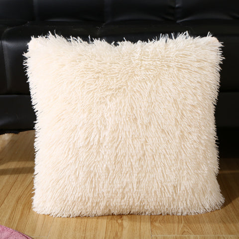 14 Colors 18'' Hot Sale Super Soft Plush Faux Fur Fleece Throw Pillow Cases Cotton Home Linen Square Pillow Case Cover