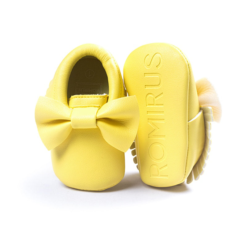 14 Colors Spring Autum Tassels Baby Shoes Newborn Boys Girls PU leather First Walkers Babies Moccasins - thefashionique