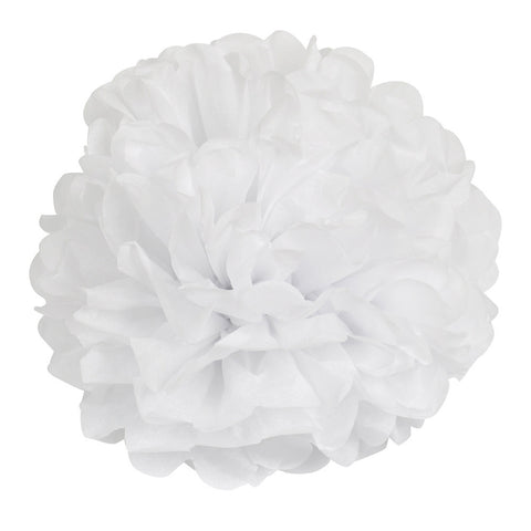 14 inch (35 cm) Tissue Paper POMPOMS Flower Balls Home Decor Festive & Party Supplies Wedding Favors white
