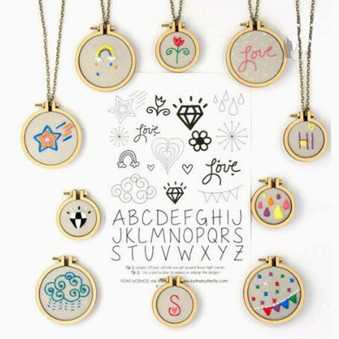 15 Style Mini Wooden Hoop/Ring Embroidery Frame Cross Stitch Sewing DIY Crafts Tool Art Works For Bag Clothes Sewing Tool 1Pcs - thefashionique