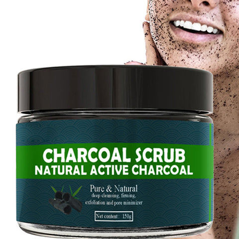 150g Bamboo Charcoal Face Scrub Body Scrub Exfoliating Gel Dead Skin Remover Whitening Moist Deep Cleasing Skin Care Product - thefashionique