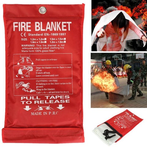 1M x 1M Sealed Fire Blanket Home Safety Fighting Fire Extinguishers Tent Boat Emergency Survival Fire Shelter Safety Cover - thefashionique