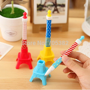 1PC Beautiful tower design ball point pen  ball pen with flower shape Kids pen gift Wholesale price(tt-1214)