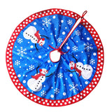1PC Christmas Tree Skirt High-grade Plush Creative Fabric Snowman Mats Tree Skirt for Christmas Tree Decorating Party