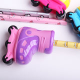 1PC Creative Roller Skates Design Pencil Sharpener Plastic Stationery For Students Gift Supplies (ss-1626)