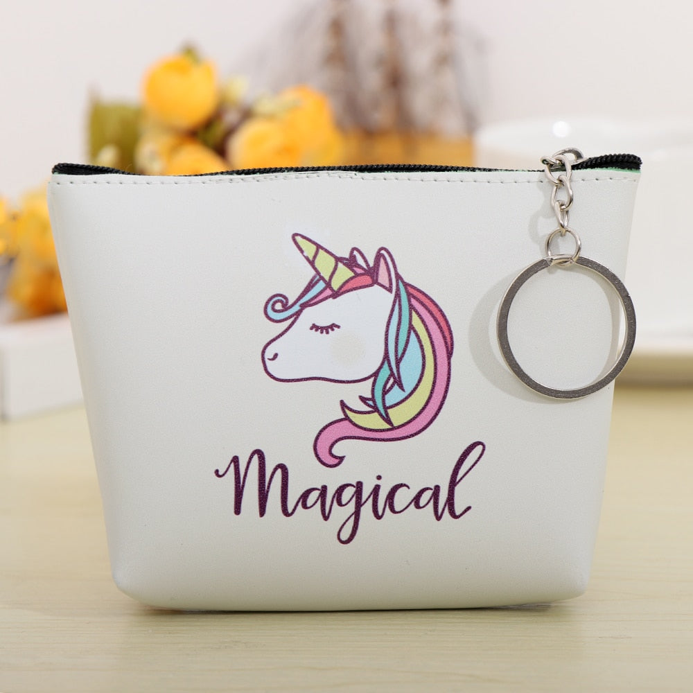 Luggage & Bags Hot Sale 1pc Fashion Cartoon Cute Unicorn Womens Coin Purse Key Pack Keychain Birthday Party Decorations Kids Baby Shower Gifts Coin Purses & Holders