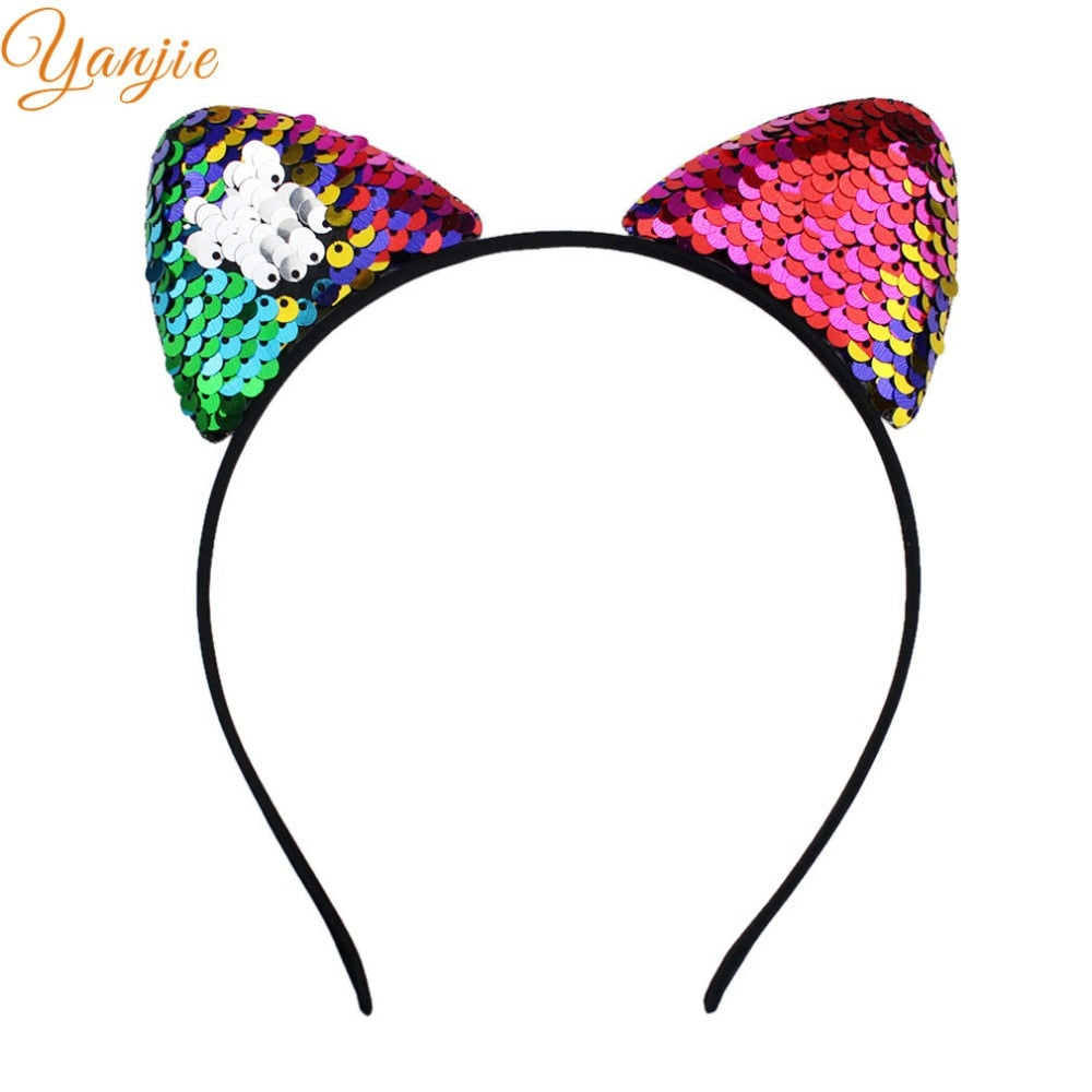 Girl's Hair Accessories 1 Pc Reversible Sequins Hairbands Colorful Glitter Sequin Headbands Novelty Headwear For Women