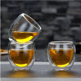 1PC Double Wall shot Glass 80ml,double wall espresso coffee cup 80ml  Novelty gift - thefashionique