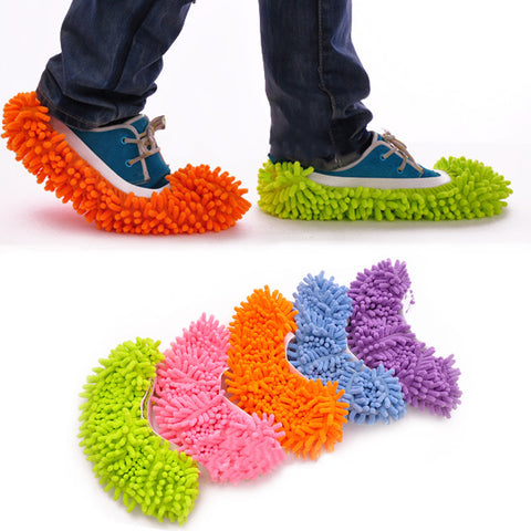 1PC Dust Mop Slipper House Cleaner Lazy Floor Dusting Cleaning Foot Shoe Cover Mops Slipper LBShipping