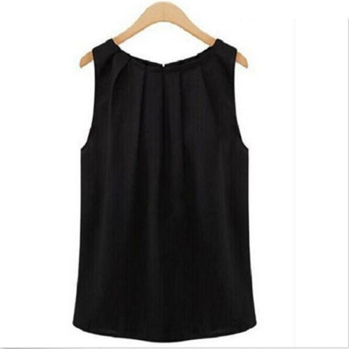1PC HOT Fashion Simple fashion women summer sleeveless casual tank shirt blouse vest CATH - thefashionique
