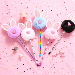 1PC Kawaii Rabbit Gel Pen Black Ink 0.5mm Pen Office Writing School Kids Supplies ss-148