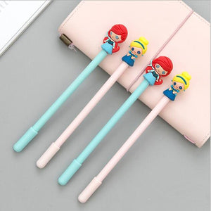 1PC  Pretty Girl Pen Cartoon Gel Pen Black Ink 0.5mm Pen School Kids supplie ss-134