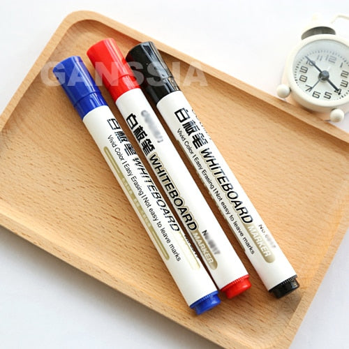 1PC Whiteboard marker pen 3 Colors Markers for white board Easy erasing Office material stationery supplies (ss-1400)