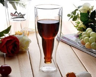 1PC  high quality heat resistant beer glass cup double layer 200ml,300ml,400ml OL 0132 - thefashionique