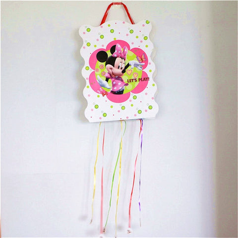 1Pcs/Lot Disney Cartoon Minnie Pinata Festival Decoration Children's Day Funny Birthday Party Supplies Design Theme Pinata