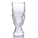 1pc 350ml New Creative Glass Beer Glass Mugs for Bars Crystal Cups - thefashionique