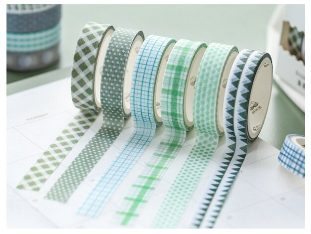 1pc Beautiful Color Grid Series adhesive tape Decoration Notes School stationery Party supplies (ss-343)