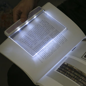 1pc Creative Flat Plate LED Book Light Portable Reading Lamp Panel LED Desk Lamps For School Students Kids Stationery Supplies