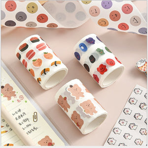1pc Cute Simple Small and delicate Series adhesive tape Decoration Photo album Book School stationery Party supplies (ss-336)