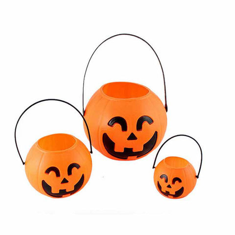 1pc Mini Halloween Festival Lantern Pumpkin Candy Jar Kids Trick Treat Sweet Candy Carry Holder Jar Jug Party Supplies New 2018