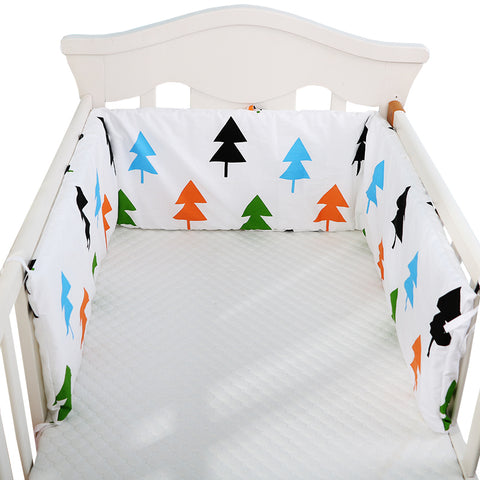 1pc One-piece Baby Bed Bumper In the Crib Double-sided Cot Bumper Baby Head Protector Crib Bumper Newborns Baby Bedding,180*28cm - thefashionique