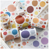 1pc Simple Wave Point Series Cute adhesive tape Decoration Photo School stationery Party supplies (ss-337)