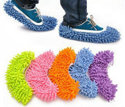 1pcs 5 Colors  Dust Mop Slipper House Cleaner Lazy Floor Dusting Cleaning Foot Shoe Cover Dust Mop Slipper