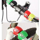 1pcs New Silicone Bike Bicycle Light Waterproof Cycling Head Front Rear Wheel Light Bike Accessories Bike Front Handlebar Lights - thefashionique