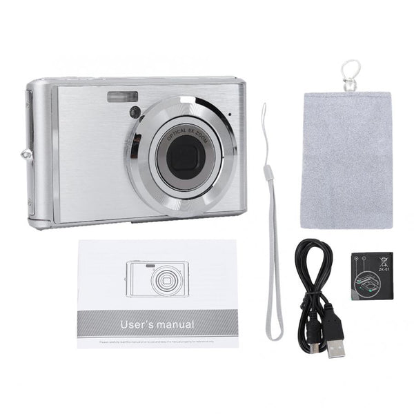 2.4 Inch Mini HD Digital Camera Telescopic Lens Ultra-thin Ultra-HD Camera 8X Optical Zoom 720P Video 20MP Image Video Camera - thefashionique