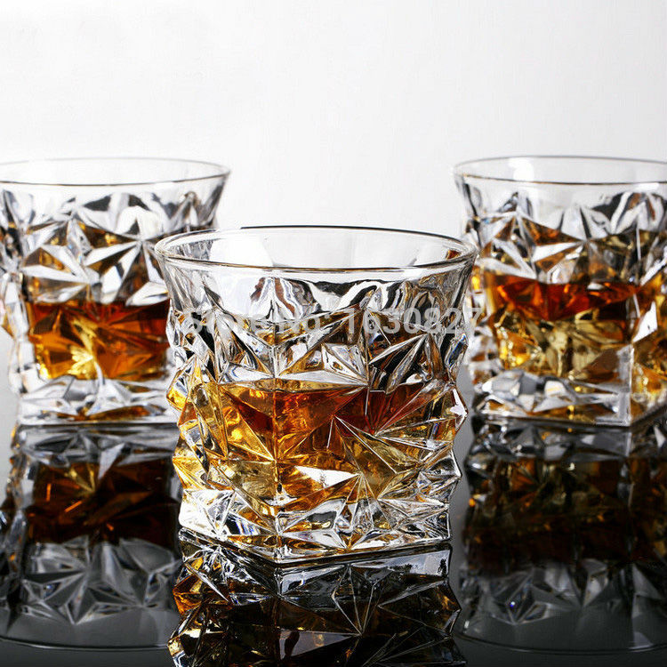 2 PCS / Set Square Crystal Whiskey Glass Cup For the Home Bar Beer Water and Party Hotel Wedding Glasses Gift Drop Shpping - thefashionique