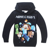 2 Pack Baby Boy Girl Child Minecraft Clothes Set Long Sleeve Hooded Roblox Jacket Pants Set 6-14Y - thefashionique