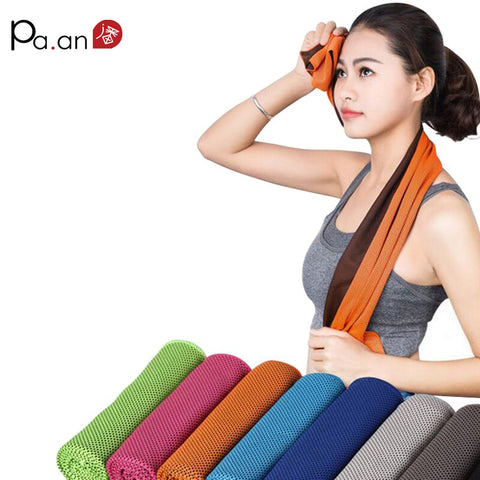 2 Piece Summer Cooling Sports Towel Microfiber Fabric Quick-Dry Ice Towels Running Fitness Yoga Climbing Exercise Outdoor Towel