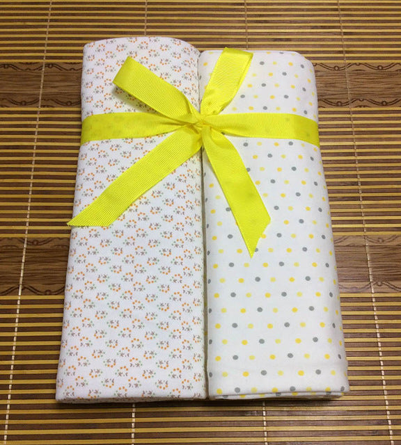 2 pcs baby blankets Newborn Baby Bed Sheets 100%knitted Cotton Super Soft Crib Sheet Baby Bedding Set Infant Cot Sheets - thefashionique
