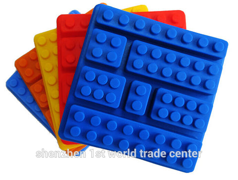 200 pcs/lot Blocks Ice Cube Trays Mold legoes Ice Block Brick Building Shape,square and rectangle
