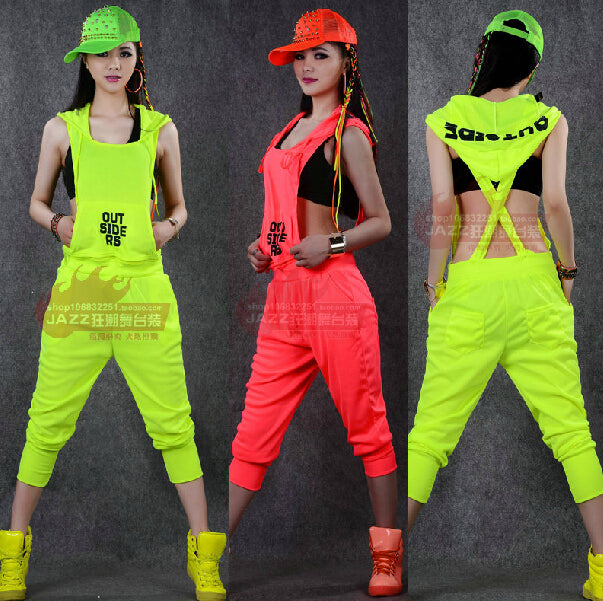 2015 New fashion Hip Hop Dance Costume performance wear European loose leopard harem jazz jumpsuit one piece Pants - thefashionique