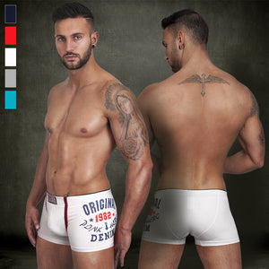 2015 New men's printed cotton trunk men's boxer short high quality stretched cotton men's underwear intimate men's undergarment - thefashionique