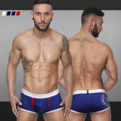 2015 New men's prints stamped boxer short men's stretched cotton trunk high quality men's underwear intimate men's undergarment - thefashionique