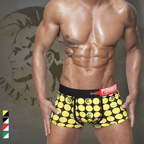 2015 New  so cool printing men's  boxer short men stretch cotton trunk high quality men's underwear intimate men's undergarment