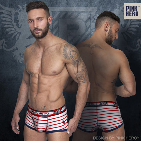 2015 New stripe cotton trunk men's boxer short high quality stretched cotton men's underwear intimate men's undergarment