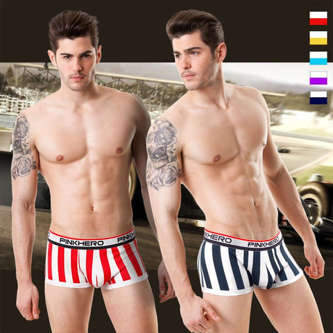 2015 New  the best boxer short for race driver men stretch cotton trunk high quality men's underwear intimate men's undergarment