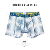 2016  Bright Polka Men's Boxer Short Stretch Cotton Trunk High Quality Men Underwear Lingerie intimate men's undergarment - thefashionique