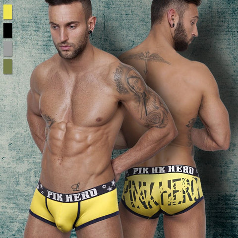2016 New Sexy Cotton Trunk men's boxer short high quality stretched cotton men's underwear intimate men's undergarment